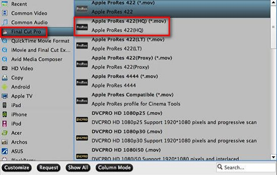 apple prores 422 hq How to Edit ALEXA 65 Christmas Recordings in FCP X
