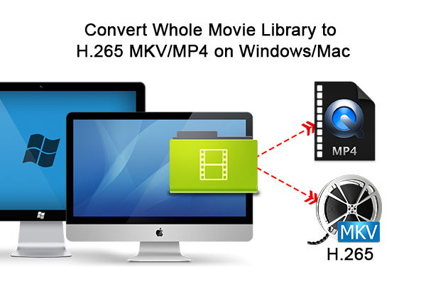 Convert Whole Movie Library to H 265 MKV/MP4 on Windows/Mac (masOS