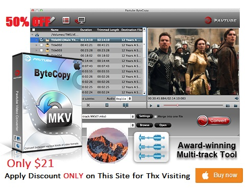Pavtube ByteCopy for Mac Coupon