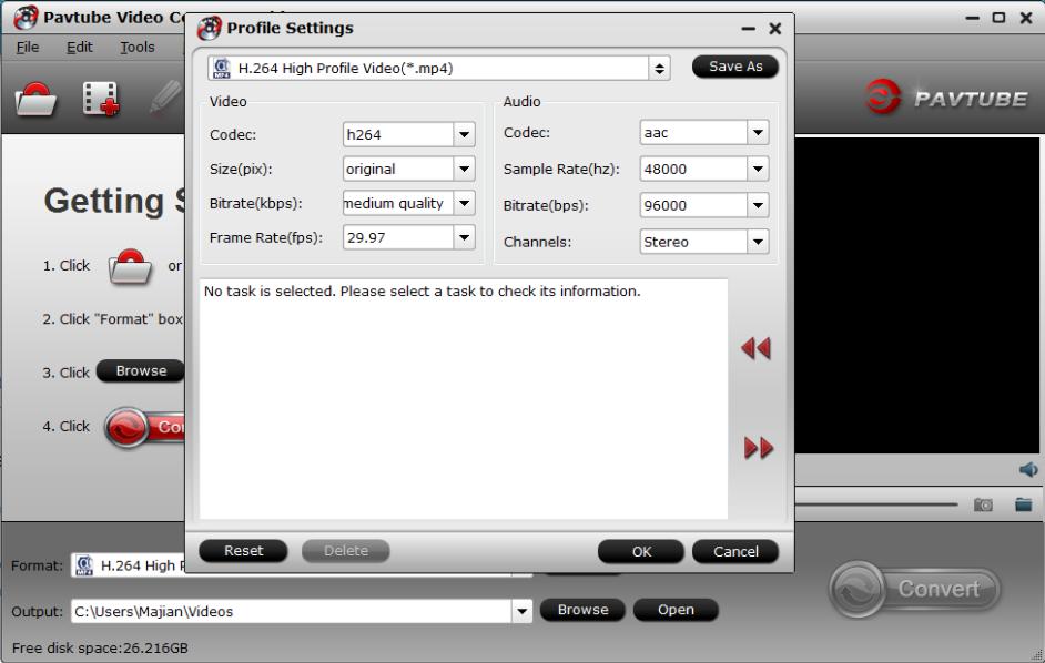 4k video setting