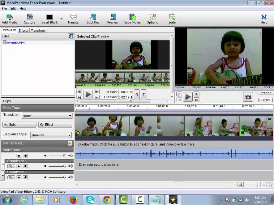 videopad video editing